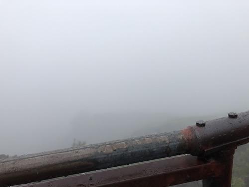 富士登山 (6)行き霧
