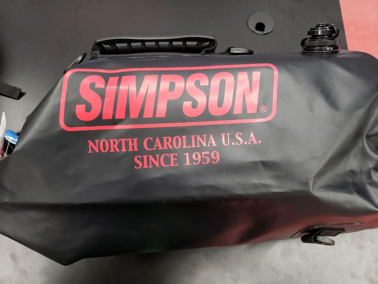 SB-318 ウォータープルーフロールアップバッグ ブラック×レッド