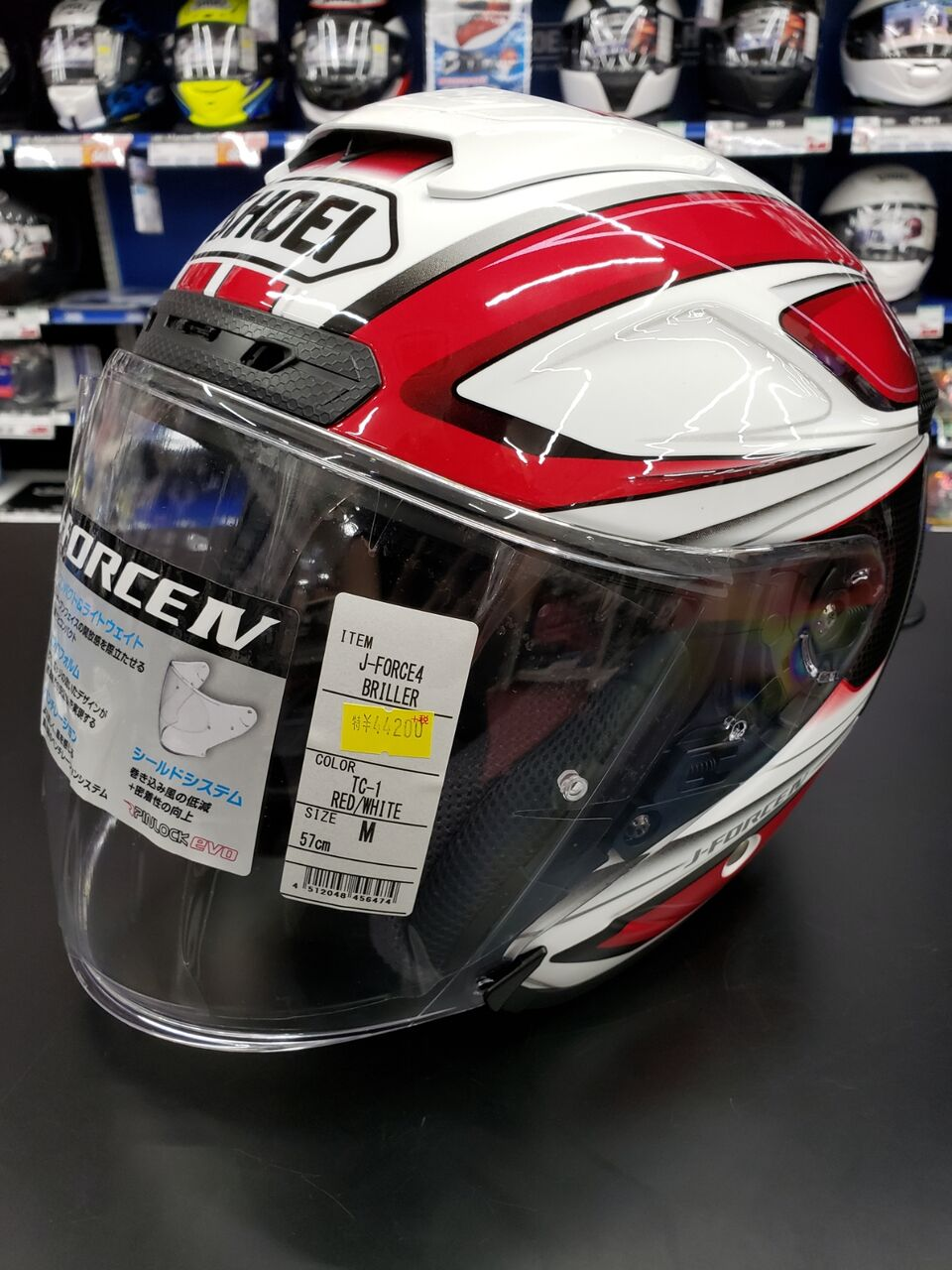 SHOEI J-Force4 BRILLER TC-1 (RED/WHITE)