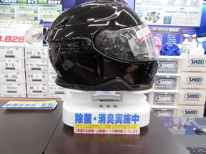 サンプルヘルメット除菌