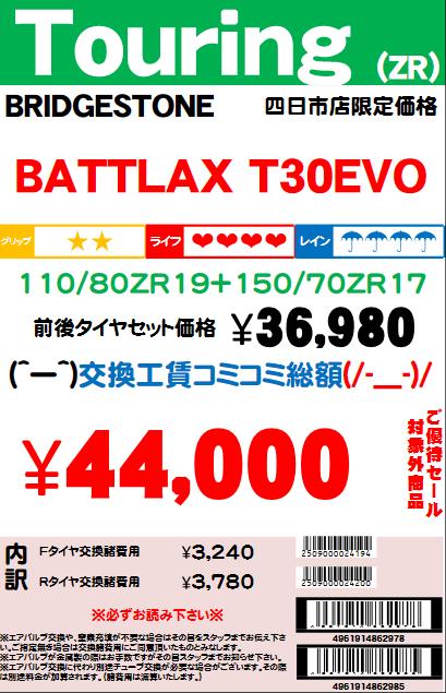 T30EVO11080ZR1915070ZR17