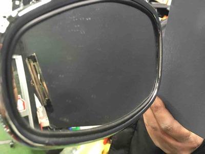 西宮 2りんかん ミラー 鏡面 撥水 コーティング イベント ビフォー1