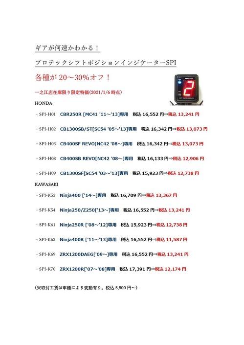 プロテックシフトポジションインジケーターSPIシリーズ)