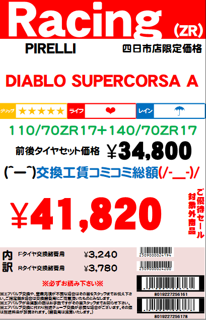 SUPERCORSAA11070ZR1714070ZR17
