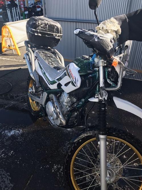セロー洗車