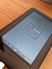 Barnes & Noble社のNook Colorを1.0.1にバージョンアップ (1.1.0じゃなくて)