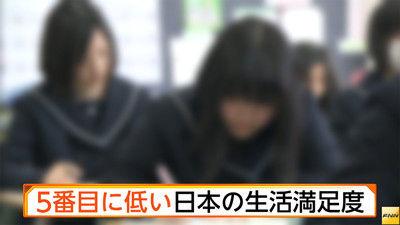 【知ってた】日本の「生活満足度」国際的な平均値を下回り、順位は下から5番目という結果に・・・/(^o^)\