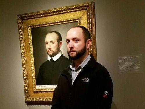 美術館で自分そっくりな絵と出会った人々…2ショット写真いろいろ