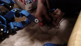 ロンダートで足首サーボギアが破損、タクミが修理中