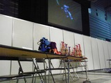プレス内覧会のGPエキシビジョンの席、意外と閑散だった。