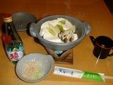 今晩の湯豆腐はポン酢で戴く