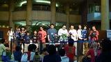 選手入場はスペル松田さんのコールで始まる
