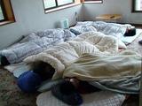 死んだように眠る電通大生(電通ダイナマではない)