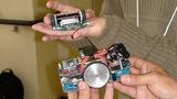 最先端の超小型シンプルなマウスと森永さんから伝承され進化したマウスの揃い踏み