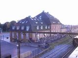 駅前のレンガの建物、中は会社のようだった