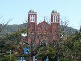 平和公園を横目に見て浦上天主堂を参拝