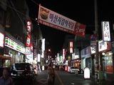 夜風もさわやか。韓国も春だ。