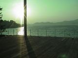 長男の心も浜名湖もたそがれて。