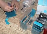 組み立て開始、アルミパーツの螺子接合は軽くロックタイト塗布