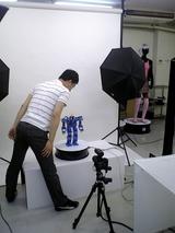 カフェデジタルのスタジオでReal3Diの撮影ちゅ1