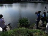 二つ池に移動し釣りの撮影