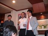 今回の審査委員長KTの副社長と日韓ROBO-ONE両委員長による乾杯