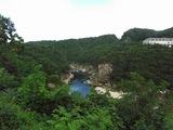 平昌江金堂渓谷に到着とても綺麗な国定公園地帯
