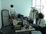 浜松研究所の控え室での準備