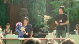 デモはマナブ開発の太鼓演奏(インパクト動作)を披露しました。
