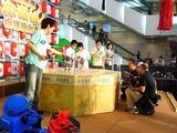 エキシビジョンマッチは香港の中学生達のお相手を