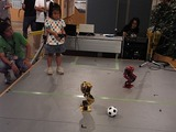 ROBO-ONEサッカー体験もしてもらいました。