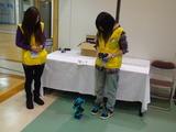 神奈川県の技能オリンピックのボランティアの学生が閉会頃にやってきて体験操縦をしてくれた、可愛いとか言ってくれたよ。