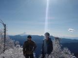 雲取山山頂にて