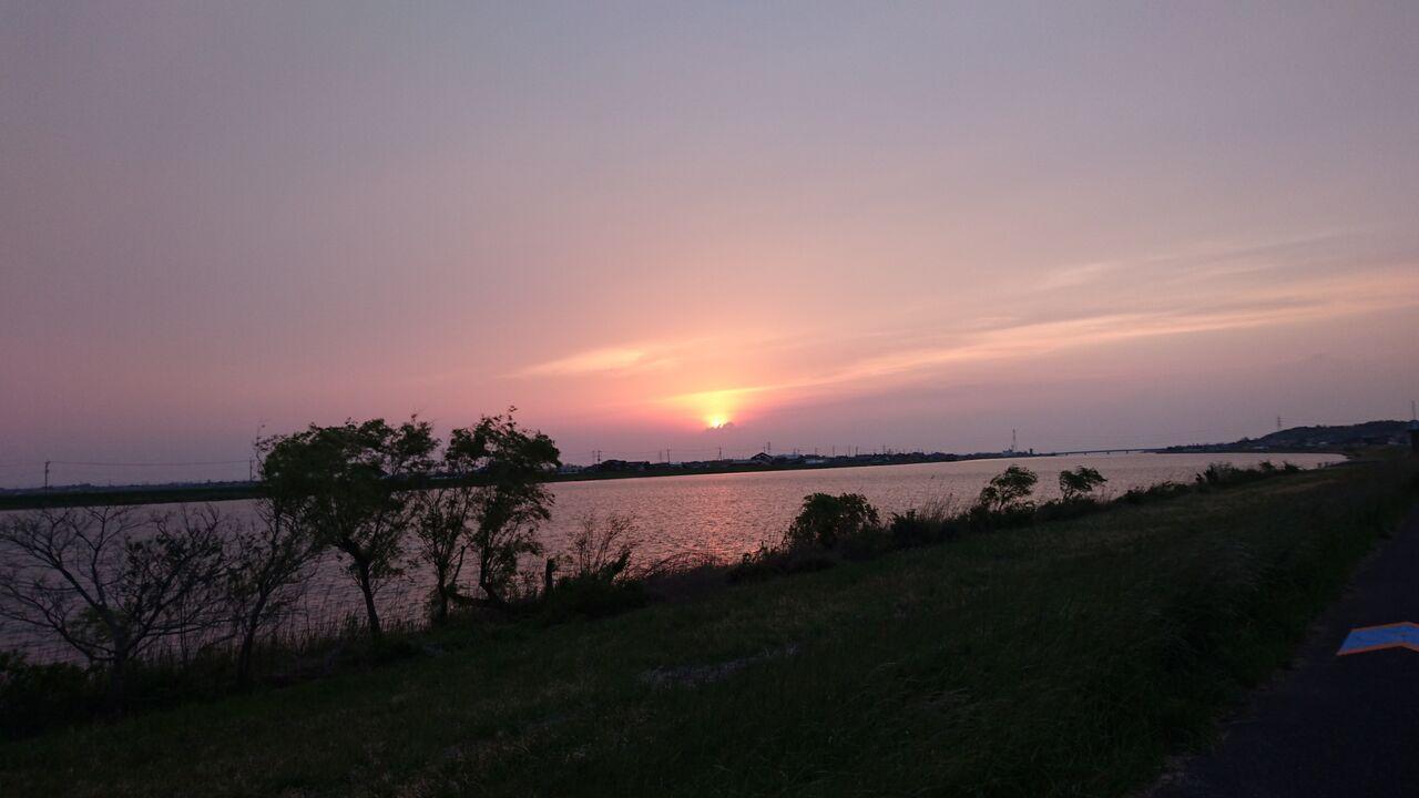 常陸利根川夕陽