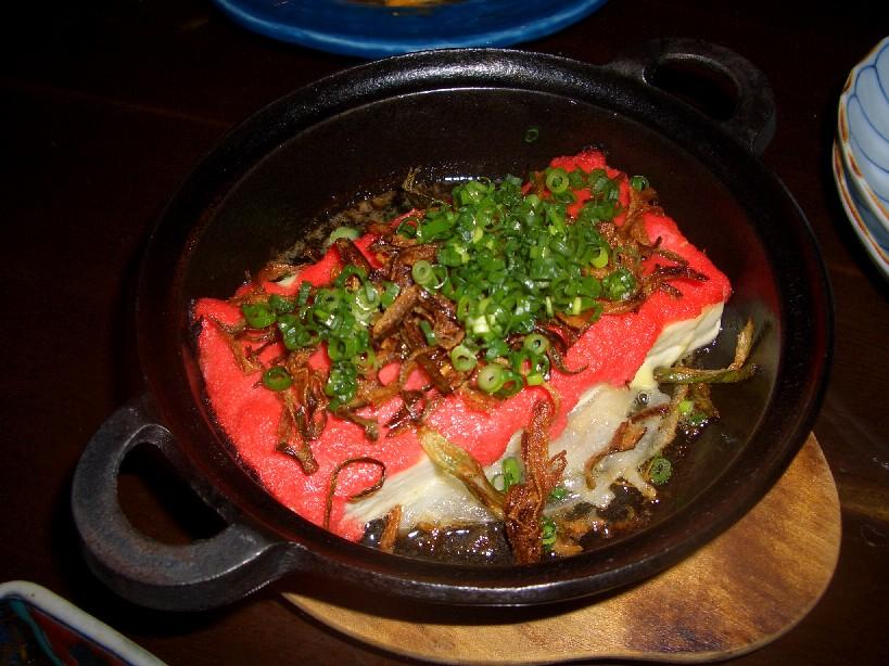 明太子豆腐ステーキ