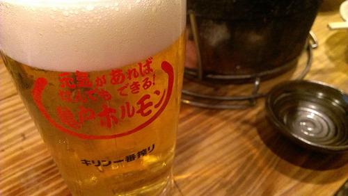 亀戸ホルモン:ビールジョッキ