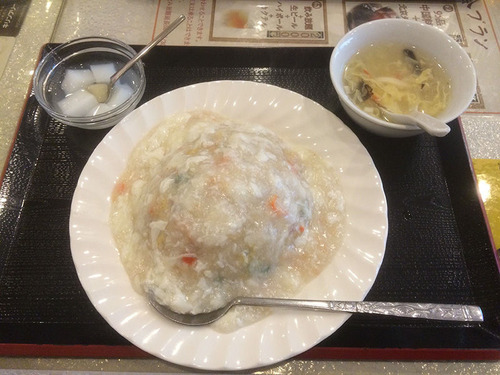 蟹肉あんかけ炒飯