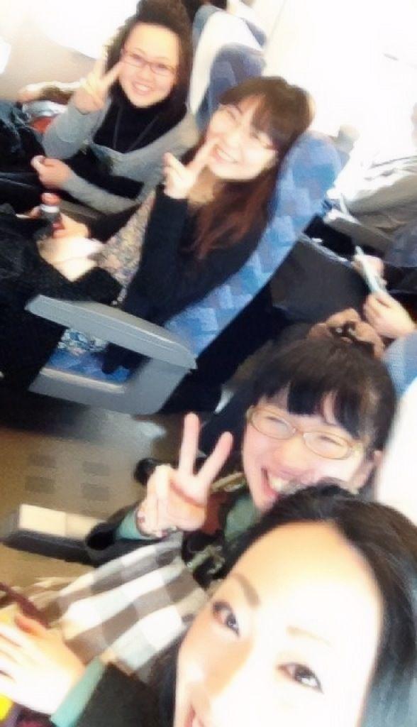 ポロッコリー新幹線にて