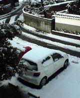山陰、雪です
