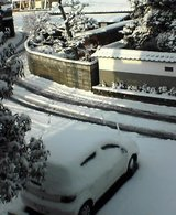 定点観測:積雪に日差し