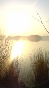 湖山池の夕陽