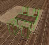 テーブルと椅子をセットで選択する(Neverwinter Nights)