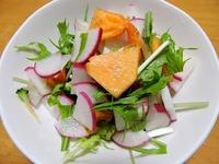 1512 赤大根と柿 サラダ A