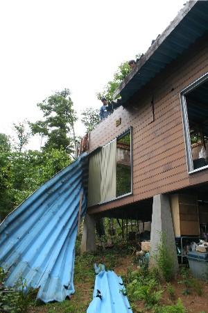 2614屋根剥がし