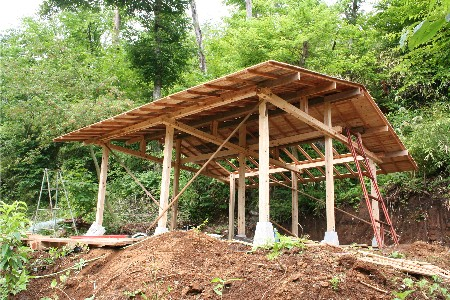 小屋屋根あがり4934