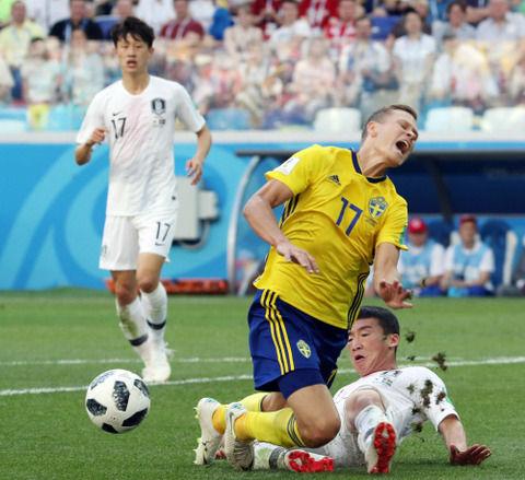 【韓国の反応】中国マスコミ「スウェーデン戦で韓国は2002年日韓W杯の悪行の報いを受けた」