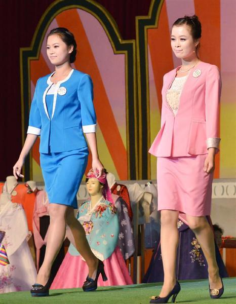 【北朝鮮】平壌でファッションショー 「世界で一番良いわが民族服」チョゴリなど1100点出品