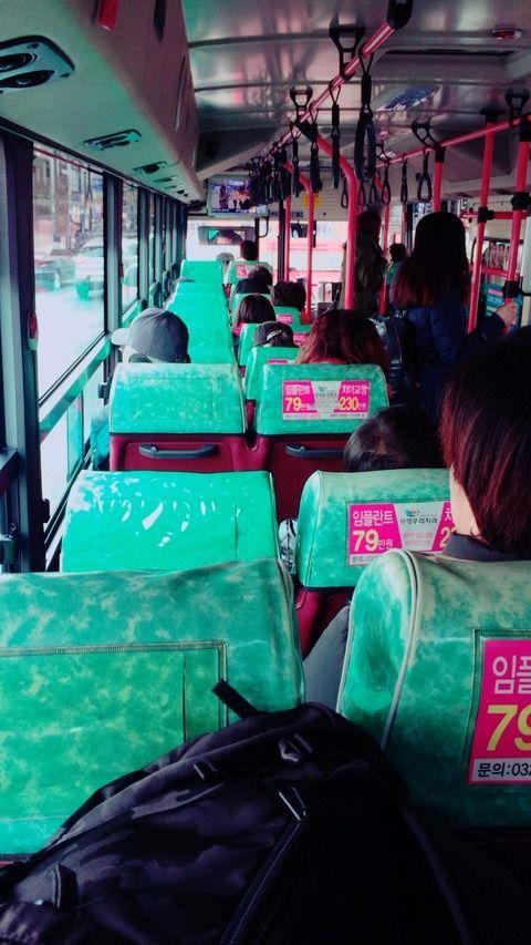 【韓国人】昨日乗ったバスの写真