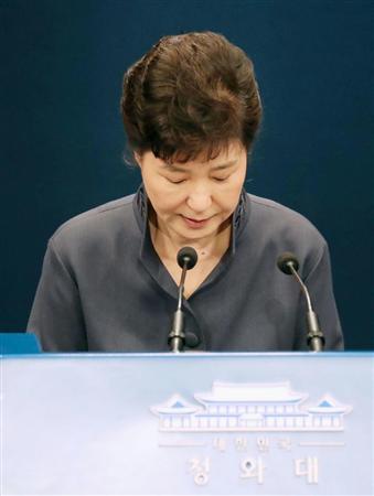 【韓国】朴大統領、機密漏洩疑惑で四面楚歌 支持率も就任以来初の10%台に急落 与党も見放し