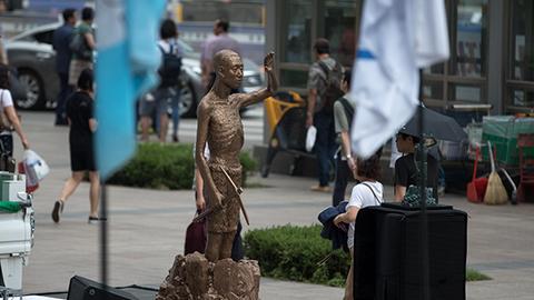 「強制徴用労働者像」ソウル・龍山駅広場と仁川市に初設置 ソウル鍾路区の日本大使館前の少女像の隣にも設置推進